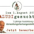 Die Stadtverwaltung Isselburg sucht für das Ausbildungsjahr 2014 einen Azubi für eine dreijährige Ausbildung als Verwaltungsfachangestellte(r). Die Bewerbungsfrist hierzu endet am 25. August 2013. In […]