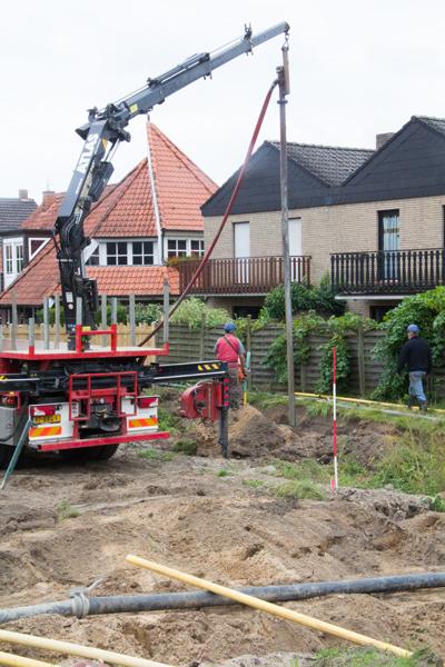 Die Vorbereitungen für die Grundwasserabsenkung laufen auf Hochtouren
