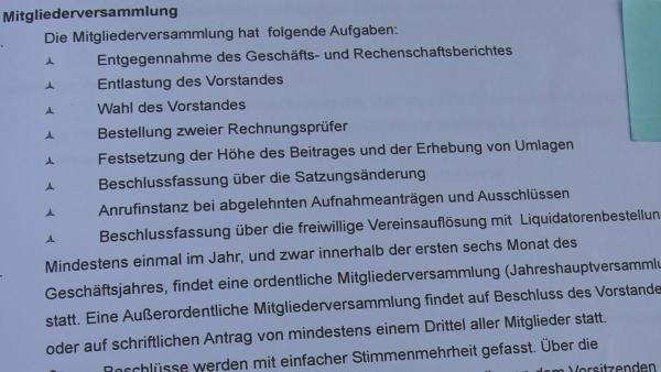 """Die Satzung der IBF beschäftigt sich auch mit dem Thema """"Mitgliederversammlung"""""""