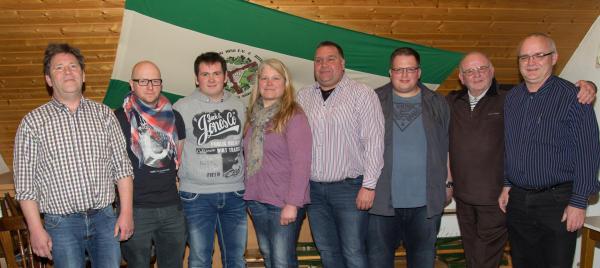 Die neu gewählten Vorstandsmitglieder sind von links: Jochen Weck, Andreas Leutink, Björn Thalisch, Anke Hegmann, Fritz Gottschalk, Andre Ueffing, Hans Kregting und Stephan Cabanje
