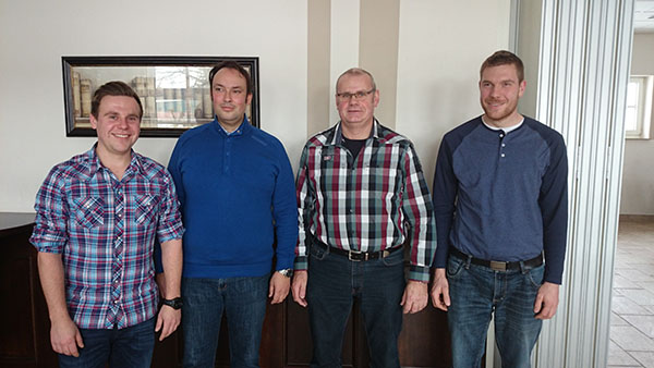 Von links: Christian Brockmann, Bernd Tiemeßen, Udo Schmitz, Sebastian Borkens (Foto: TK Vehlingen)