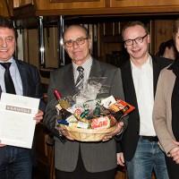 V.l.: Heinz Streuff, Paul Biermann, Martin Alofs, Irmgard Zey