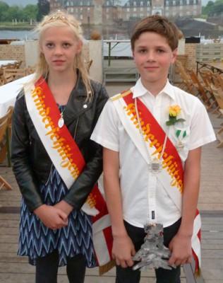 Miles Knaven und Julie Reddel sind das neue Kinderkönigspaar.