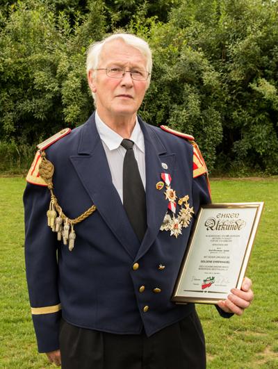 Karl-Hermann Spaan wurde für 50-jährige Mitgliedschaft ausgezeichnet