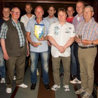 v.l.: Carsten Dittrich, Herbert Heßling, Frank Flodowski, Günter Löken, Udo Hackfort, Markus Wüpping, Michael Arndts, Stefan Daniels, Josef Wolbring (Foto: Frithjof Nowakewitz)