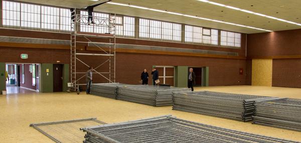 Die Umbauarbeiten in der Stadthalle schreiten voran (Foto: Frithjof Nowakewitz)