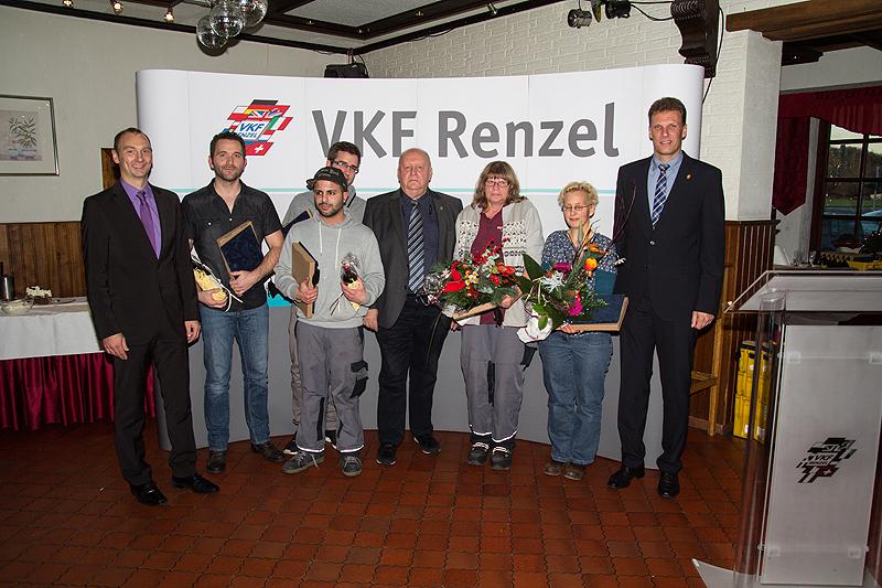 Von links nach rechts Ansgar Hügging (GF), Markus Sonsmann, Ugur Kalemai, Sebastion te Beck, Heinz Renzel (GF), Angelika Szilinsky, Melanie Oppermann, Joachim Ostendorf (GF)