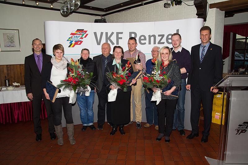 Von links nach rechts Ansgar Hügging (GF), Jasmin Löbe, Monique Echterhoff, Heinz Renzel (GF), Katarzyna Jaworska, Valon Nuraj, Ludwig Groß-Weege, Dorota Konst, Thomas Krabbe, Joachim Ostendorf (GF)