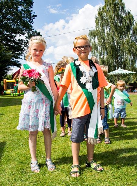 Julian Jordan und Sophia Göring sind das neue Kinderkönigspaar der Schützenbruderschaft Vehlingen