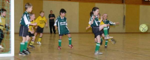 Jugendfußball in der Sporthalle