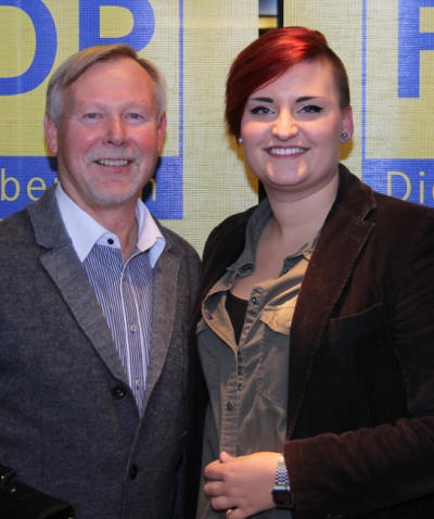 Auch der Landtagsabgeordnete Karlheinz Busen gratulierte Paulina Kempski