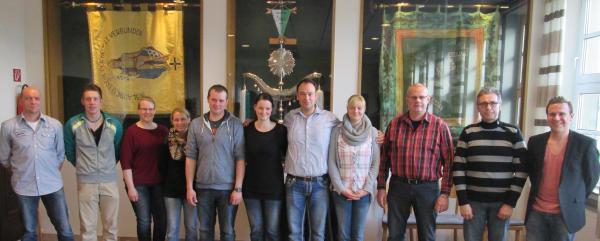 Von links: Klaus Terhorst; Marek Tiemeßen; Martina Giesen; Conny Möllenbeck; Frank Dücking; Carmen Hormann; Bernd Tiemeßen; Bianca Biermann; Udo Schmitz; Dirk Becks; Christian Brockmann Foto: Privat