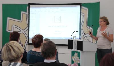 """Kerstin Hellweg informierte über das Thema """"MS und Kinderwunsch"""" (Foto: Frithjof Nowakewitz)"""