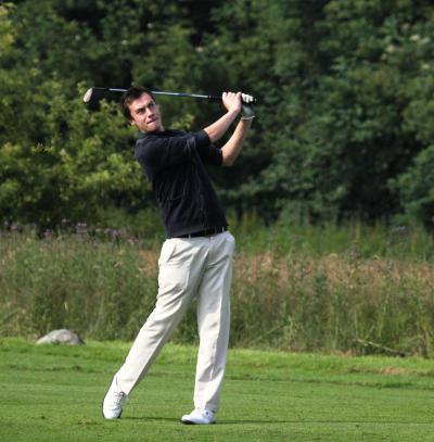 Maik Lentfort war am Sonntag der beste Anholter Spieler (Foto: Golfclub Wasserburg Anholt)
