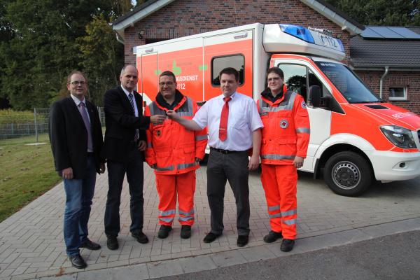 Von links: Carsten Thien, Heribert Volmering, Torsten Niewenhuis, Jürgen Rave, Johannes Raap (Foto: Frithjof Nowakewitz)