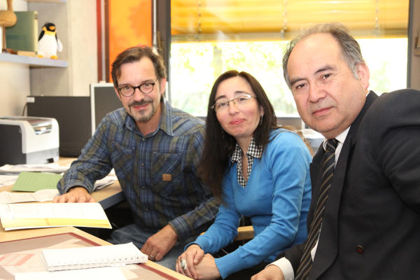Von links: Oliver Tornow, Marela Casas, René Reyes (Foto: Frithjof Nowakewitz)
