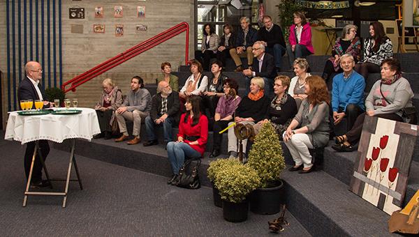 Rudi Geukes eröffnete am Samstag die Ausstellung