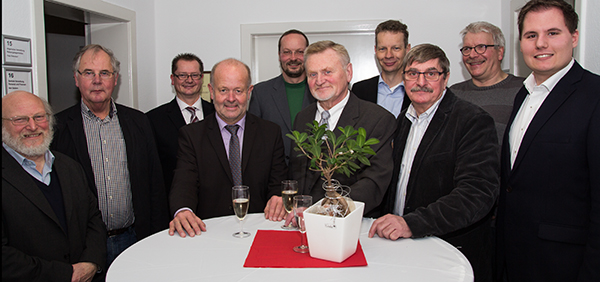 Von links: Dr. Theo Beine,  Johann Radstaak, Michael Carbanje, Rudi Geukes, Uwe Übelacker, Klaus Dieter Spaan, Frank Häusler, Felix Kleideiter, Heinz Bernd Tekaat, Kevin Schneider (Foto: Frithjof Nowakewitz)