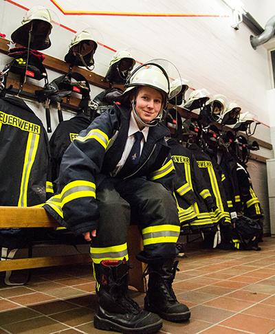 Maria Foterek ist die erste Frau in der Geschichte des Löschzuges Werth (Foto: Frithjof Nowakewitz)
