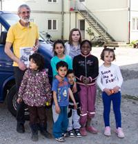 Flüchtlingskinder und der Schulweg