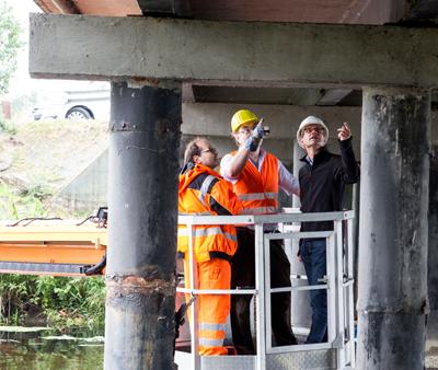 Demmingbrücke wurde auf Mängel kontrolliert