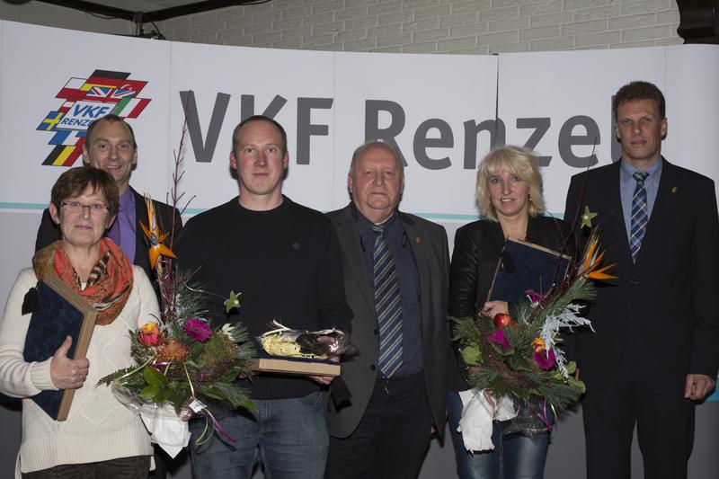 Von links nach rechts Johanna Janßen, Ansgar Hügging (GF), Jürgen Bossmann, Heinz Renzel (GF), Alexandra Burda, Joachim Ostendorf (GF) (Foto: VKF Renzel)
