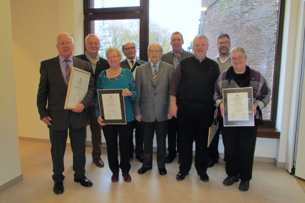 Kolpingsfamilie ehrt langjährige Mitglieder