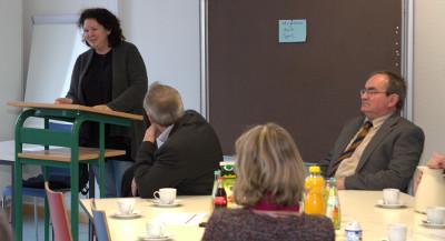 Virgine Brendel sprach über die Möglichkeiten der Vereine bei der Integration von Flüchtlingen mitzuwirken
