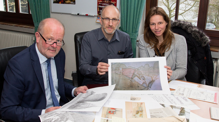 Bürgermeister Rudi Geukes, Ordnungsamtsleiter Frank Schaffeld und Tourismuschefin Tina Schumacher planen die 575-Jahrfeier (Foto: Frithjof Nowakewitz)
