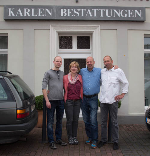 V.l.: Andreas Heßling, Anja u. Achim Klaczynski, Klaus Karlen