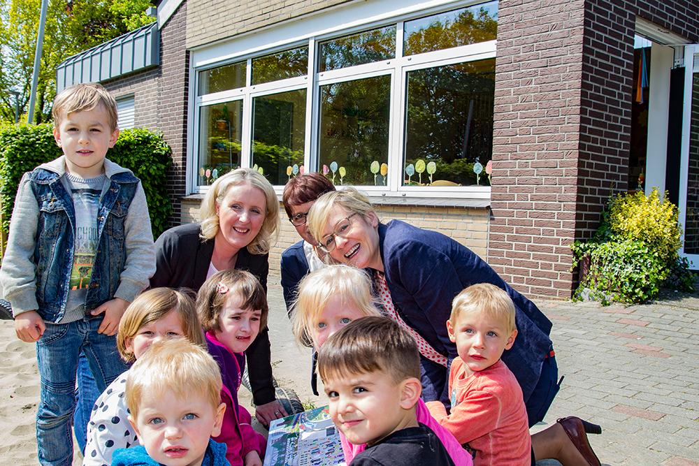 NRW-Familienministerin Christina Kampmann besuchte Kita in Werth