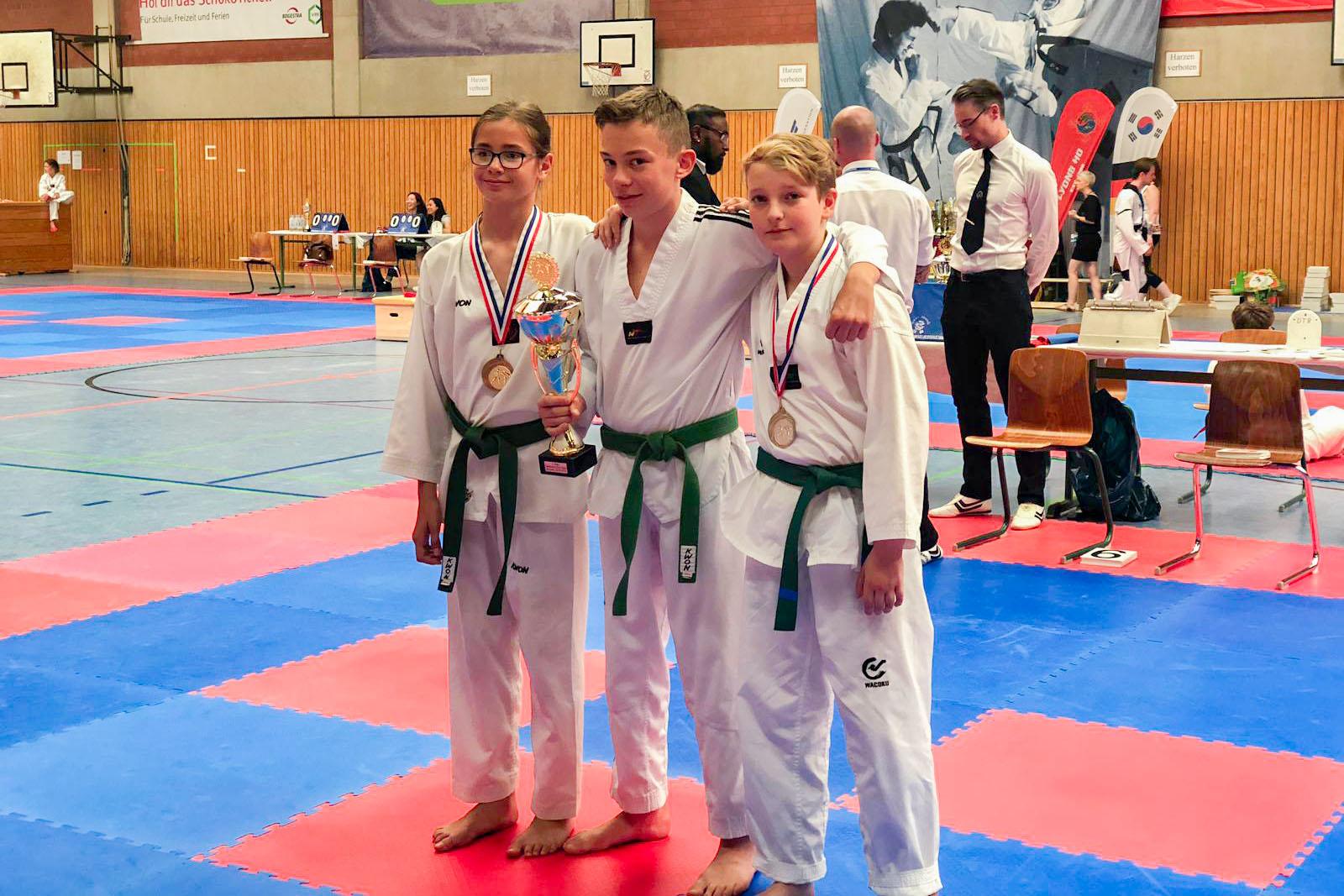Isselburger Teakwondo-Kämpfer auf dem Treppchen