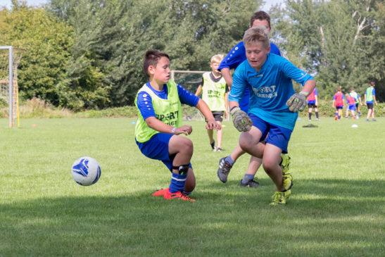 45 Kinder tummelten sich drei Tage auf der Anlage in Wertherbruch bei einer von Franz-Josef Tenhagen und der JSG SV Werth/BW Wertherbruch organisierten Fußballschule