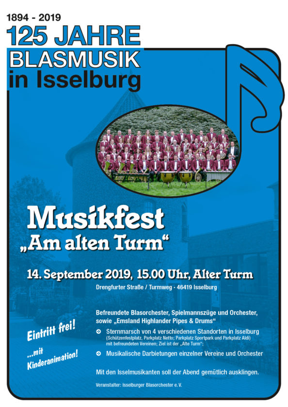 Musikalischer Sternmarsch zum Alten Turm beschließt das Jubiläumsjahr