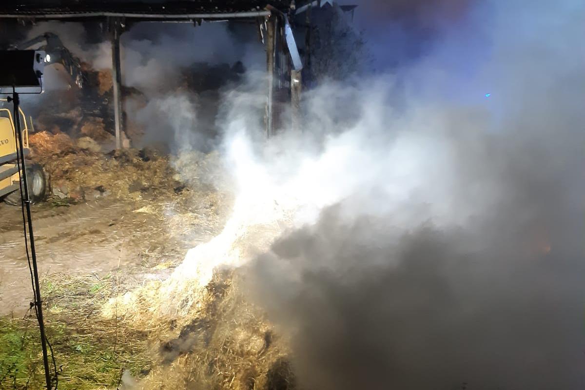 Brand auf Vehlinger Bauernhof