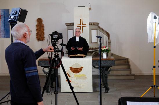 Ev. Kirchengemeinde produzierte Video-Gottesdienst