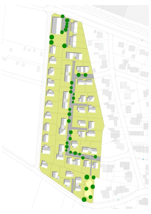 Im Baugebiet Vogelhorst sollen 49 neue Wohneinheiten entstehen