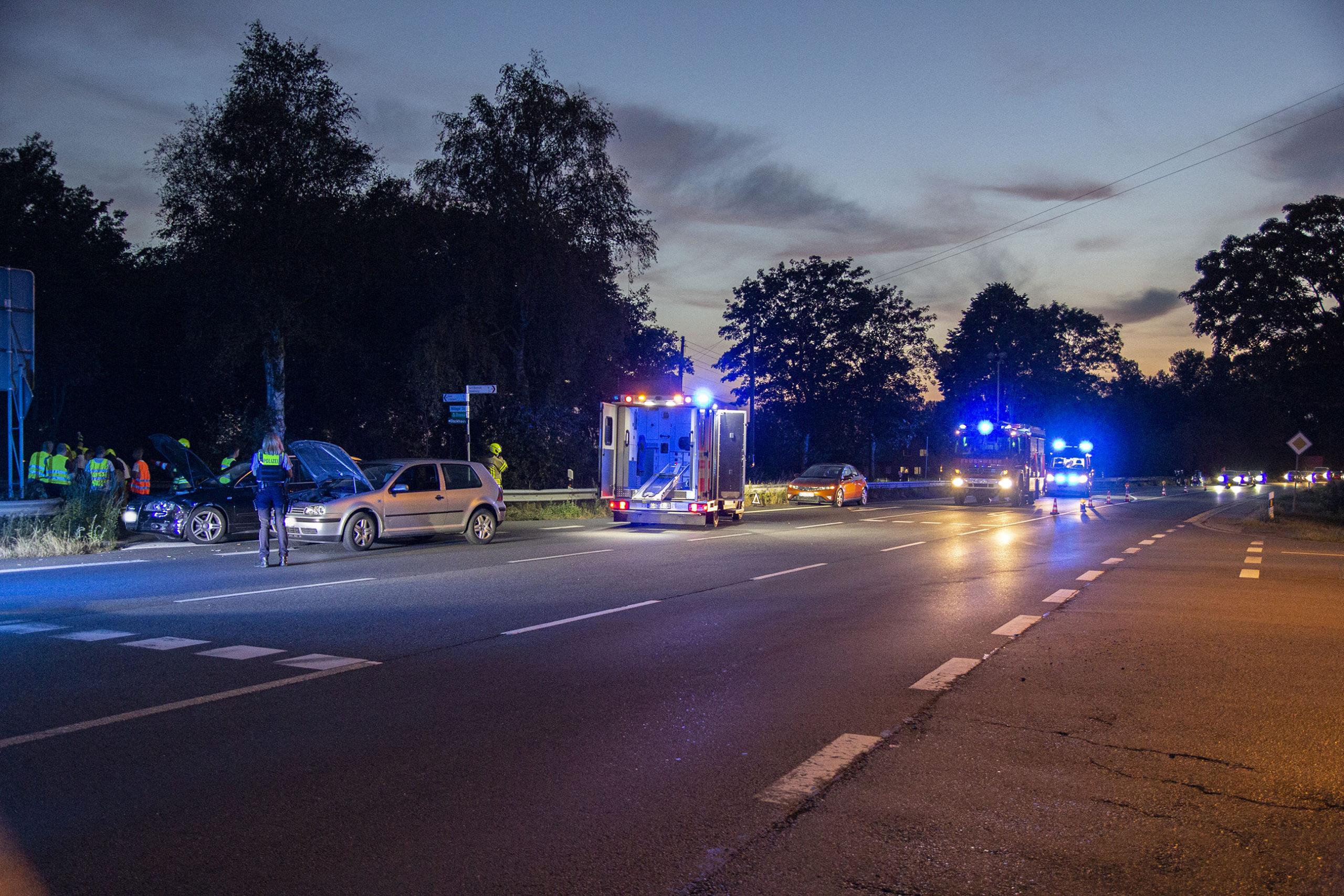 Zwei verletzte Personen bei Verkehrsunfall