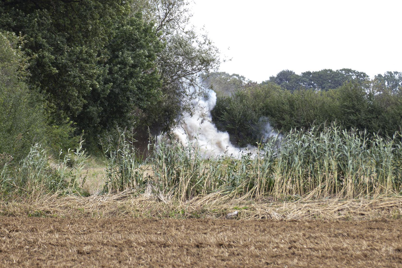 Britische Artillerie-Granate wurde kontrolliert gesprengt
