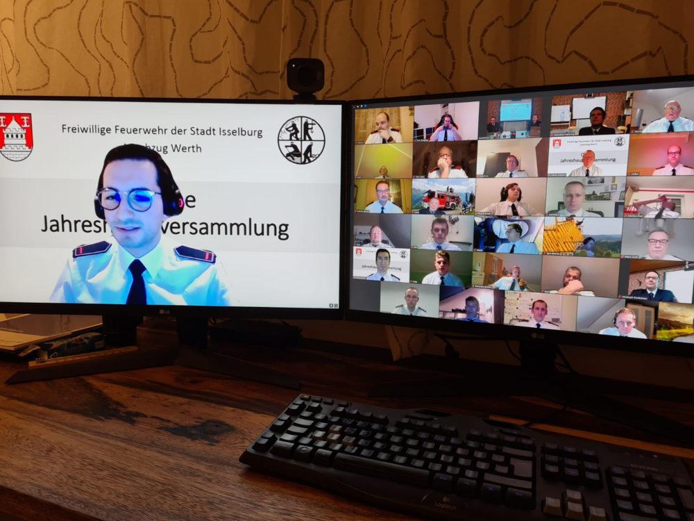 Werther Feuerwehr hält virtuelle Jahreshauptversammlung ab