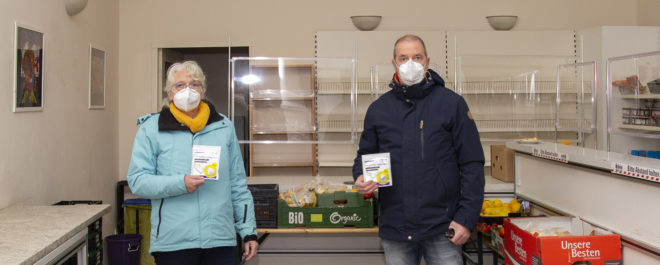 Isselburger Schützenverein spendet 500 FFP2-Masken für den Tafelladen